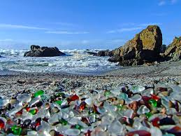 when the beach was cleaned up people were quickly attracted to the beautiful glass so they took it before the beach could be destroyed the california parks