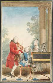 wolfgang amadeus mozart simple english the  leopold wolfgang and nannerl about 1763