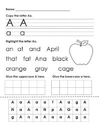 Letter Recognition Homework Worksheets for all | Download and ...
