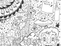 Trippy Space Coloring Pages Shrooms Page Free Printable