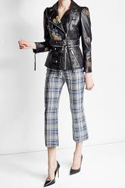alexander mcqueen printed and embroidered leather jacket multicolored women alexander mcqueen perfume saks alexander mcqueen dresses for factory