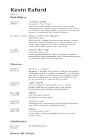 Correctional Officer Resume samples
