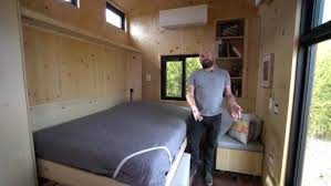 tiny house murphy bed. Wonderful House Check Out The Murphy Bed Folded Down Brilliant SaltBox Tiny House  And Bed O