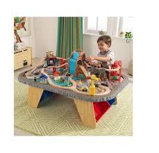 kidkraft waterfall junction train set and table toy niob