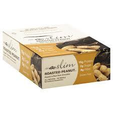 nugo bars slim roasted peanut gluten free box