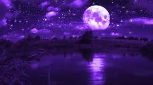 Purple Moon Live Wallpaper - WallpaperWaifu