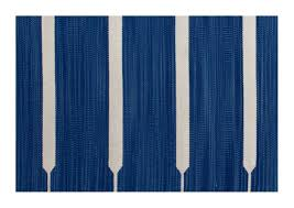 blue stripes 100 cotton rug hand woven in india by local artisans
