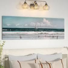 sailboat beach scene graphic art print on canvas on beach scene canvas wall art with canvas wall art beach scenes wayfair