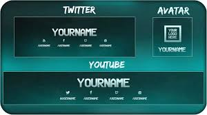 Youtube Template Psd Banner Template Photoshop Youtube Cs6