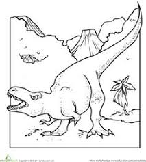 Small Picture Color the Dinosaur Elasmosaurus Worksheets Preschool