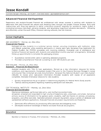 Financial Aid Officer Sample Resume - Mitocadorcoreano.com