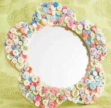 Diy mirror frame ideas Bathroom Mirror Diy Mirror Decoration Ideas Button Crafts Mirror Frame Ideas Bathroom Design Ideas Diy Mirror Decoration Ideas Button Crafts Mirror Frame Ideas Diy