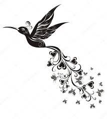татуировка колибри вектор векторное изображение Marina99 39761077