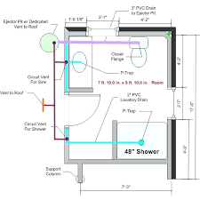 basement bathroom plumbing. Bathroom Plumbing Vent Shower Drain Bathrooms How To Install A In Basement Pipe Size