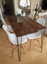 dining kitchen table reclaim wood rustic industrial handmade uk