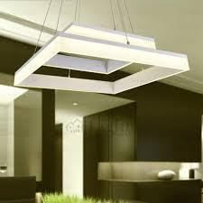 Modern Square Shaped Led Kitchen Pendant Lights