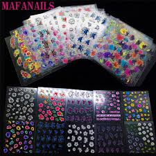 <b>30 Sheets</b> Top Quality 3D Adhesive Flowers <b>Colors Nail Art</b> Nails ...