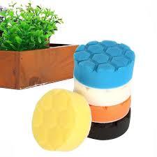 <b>5pcs</b>/<b>Set 5 Inch</b> Buffing Sponge Polishing Tool For Car Polisher Wax ...