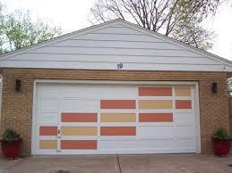 Mid Century Modern Garage Doors Midcenturygaragedoorpainted Inside Design Inspiration