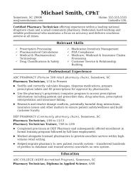 Pharmacy Resume Samples Career Objective Cover Letter Intern