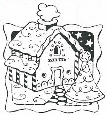 Small Picture To Color Coloring Pages Rooms House Gingerbread To Color Free