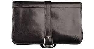 maxwell scott bags luxury italian leather men s hanging toiletry bag pratello black in black for men lyst