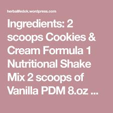 herbalife nutter er shake ings 2 scoops cookies cream formula 1 nutritional