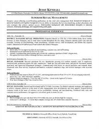 Sample Retail Supervisor Resume Resume Samples