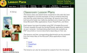 Microsoft Lesson Plans Lesson Plans For Teaching Students Microsoft Office