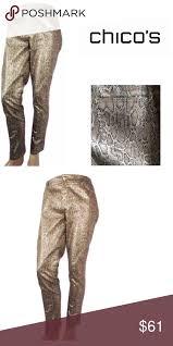 Chicos Jeans Size Chart Chicos Platinum Denim Size 4 Chicos Platinum Denim Gold