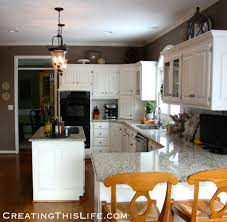 decorating above kitchen cabinets at creatingthislife com