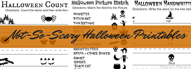 not so scary halloween printables count write and match not so scary halloween printables