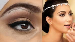 wedding makeup for brown eyes lovely kim kardashian wedding make up makeup tutorial makeup geek