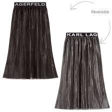 Fashion Design Skirt Girls Reversible Pleated Skirt