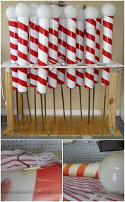 Big Candy Cane Decorations 60 Impossibly Creative DIY Outdoor Christmas Decorations DIY 15