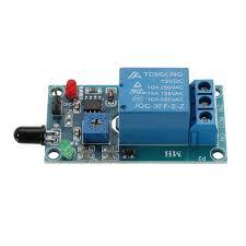 <b>Flame Flare Detection Module</b> Flame Sensor 12V Relay Board ...