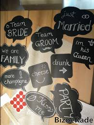 large photo booth props by bizoerade fun cute diy party props black chalkboard message signs longer sticks bigger size for weddings birthday