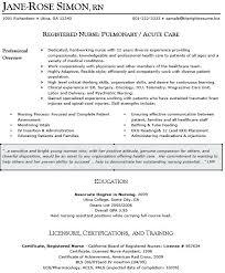 Nursing Resume Objectives Examples Nursing Resume Objective Sample
