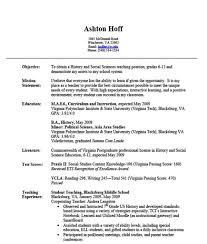 Simple Resume Format For Experienced Teacher Organicoilstore Com