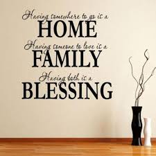 Blessing Quotes Adorable Alphabet Letter Stickers Home Family Blessing Quote Removable Art