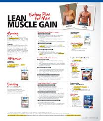 Diet Plans Lean Body Plan Pdf Muscle And Workout Female