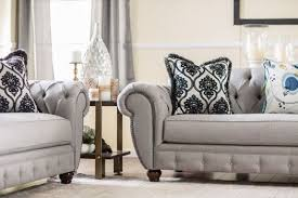 modern victorian furniture. SM2291 Furniture Of America Living Room Modern Victorian Style Gray Fabric