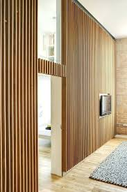 vertical wood panel wall wood slat