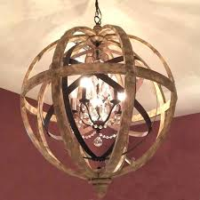 wood round chandelier a wood wrought iron