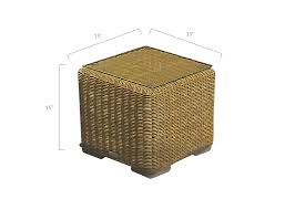wicker coffee table tempered glass