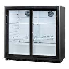 sliding glass door in traditional can beverage refrigerator