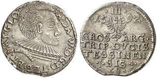 Adam Wenzel, 1579-1617. Dreigröscher 1592. Iger Ci.92.1 b (R3); F. u. S.  2981.