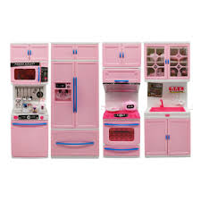 Toy Kitchen With Lights And Sound 4 Different Pretend Play Kitchen Module Playset Toy With
