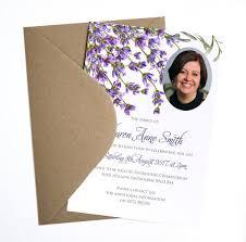 Memorial Announcement Cards Funeral Memorial Announcement Or Invitation Lavender Printable Pdf