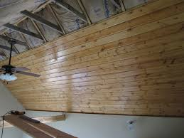 Plywood Plank Ceiling Its Fairly Common For Tongue And Groove Boards To Be Installed As